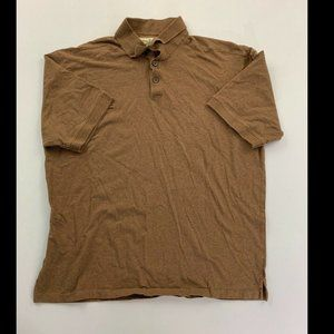 Tommy Bahama Men's Brown Short Sleeve Polo Shirt